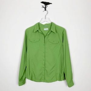 Columbia Green Omni-Shade Button Down Shirt